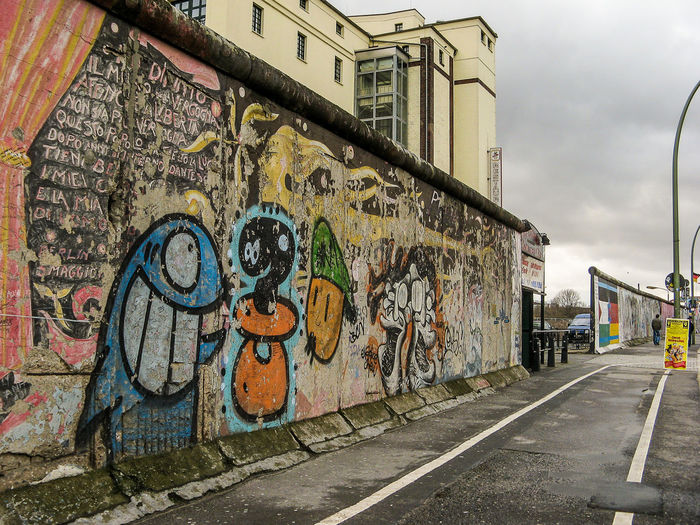 Berlin wall Art Berlin Creativity Footpath Germany Graffiti Historic Lines Perspective Wall