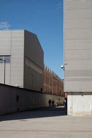 Hangar Bicocca, Milano Architecture City Colors Copy Space Hangar Bicocca Industrial Architecture Industrial Building  Milan Music Sunlight Architecture Building Exterior Built Structure Hangarbicocca Industrial Landscapes People In Distance Shadow Sky Urban Urban Landscape Way