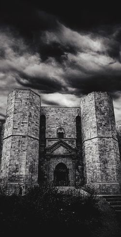 Andria Architecture Blackandwhite Building Exterior Built Structure Casteldelmonte Cloud - Sky Day Fort History Indoors  Italy Medieval No People Old Ruin Puglia Sell Sky EyeEmNewHere The Great Outdoors - 2017 EyeEm Awards
