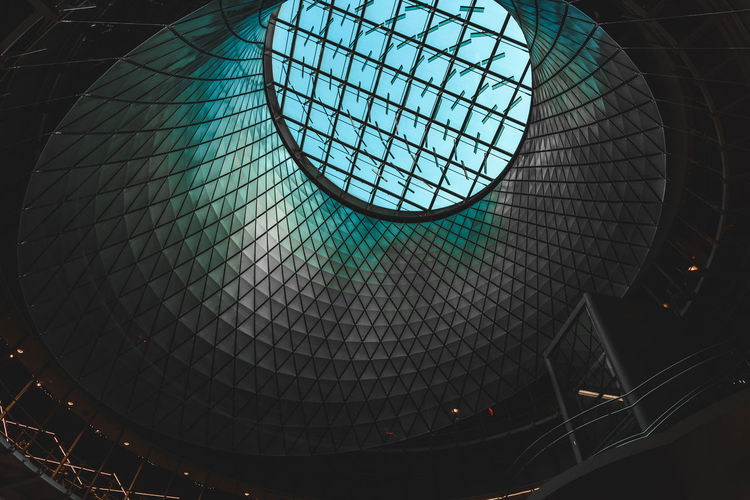 Architecture Building Atrium Built Structure Close-up Day Geometric Shape Indoors  Low Angle View Nature New York New York City No People Pattern Sky Skylight