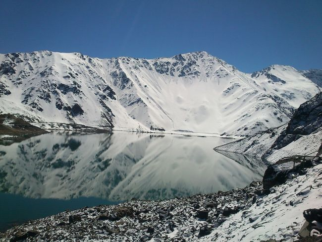 Embalse El Yeso Water Reflections Montains And Water  Montains