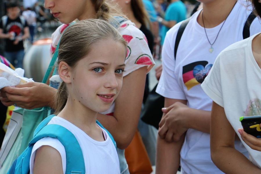Children from Poland and Germany taking part in the school exchange organized in cooperation with DPJW Adventure Berlin Boys Children Fun Germany Girls Joy Logo Lomonossow People And Places. School School Uniforms Around The World T-shirts Teachers The Battle Of Cities Together Two Capitals One Heart Warsaw Warsaw Poland