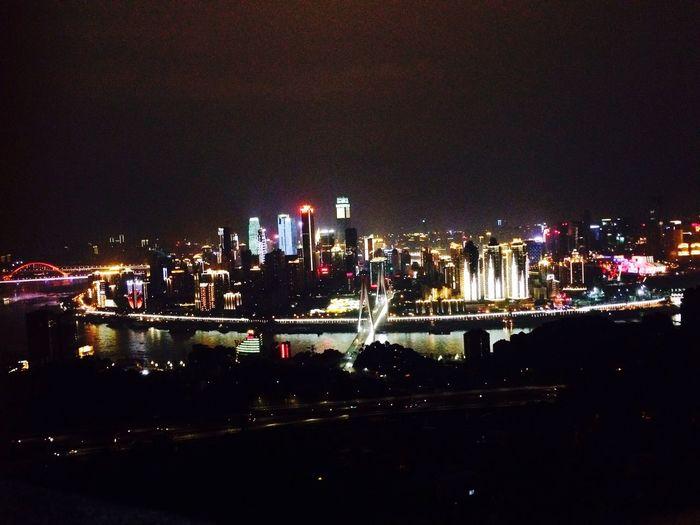night scene of ChongQing. Nanshan. with WangLei. First Eyeem Photo