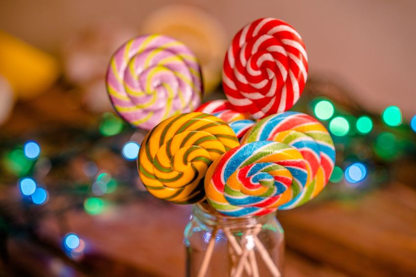 Candy Candy Cane Close-up Day Dessert Focus On Foreground Food Food And Drink Freshness Indoors  Indulgence Lollipop Lollipops Multi Colored No People Red Sweet Food Swirl Temptation Unhealthy Eating