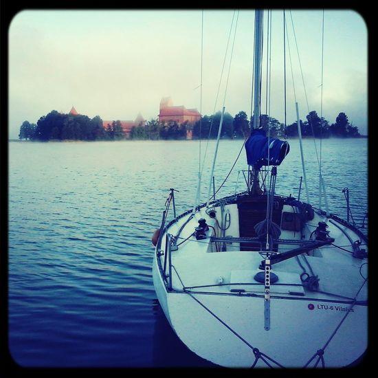 early morning in Trakai yacht club