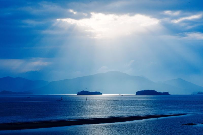 EyeEmNewHere Scenics Beauty In Nature Sky Cloud - Sky Sea Sunlight Blue Landscape Landscape_Collection Nature Tranquil Scene