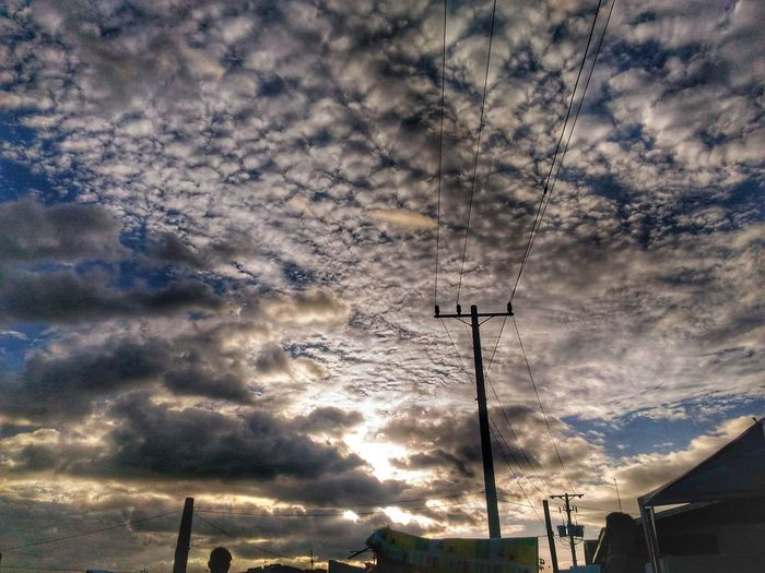 Finding New Frontiers Cloud - Sky Sky Outdoors Sunset Beauty In Nature Dramatic Sky Scenics Day Nature Connection Low Angle View No People Electricity  Power Supply Power Line  Electricity Pylon Technology Communication