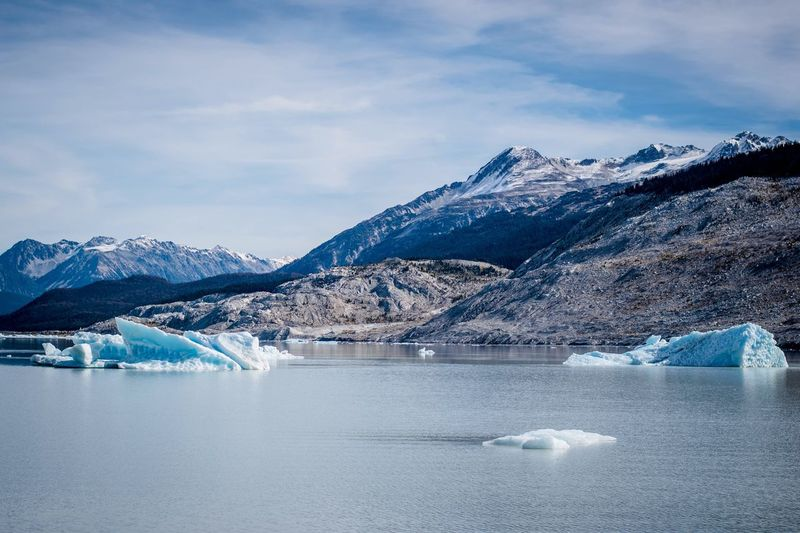 Ice bergs on glacier lake Mountains Globalwarming Fall Winter Snow Sky Landscape Mountain Sony Ice Berg Travel Canada British Columbia Cold Temperature Glacier EyeEmNewHere