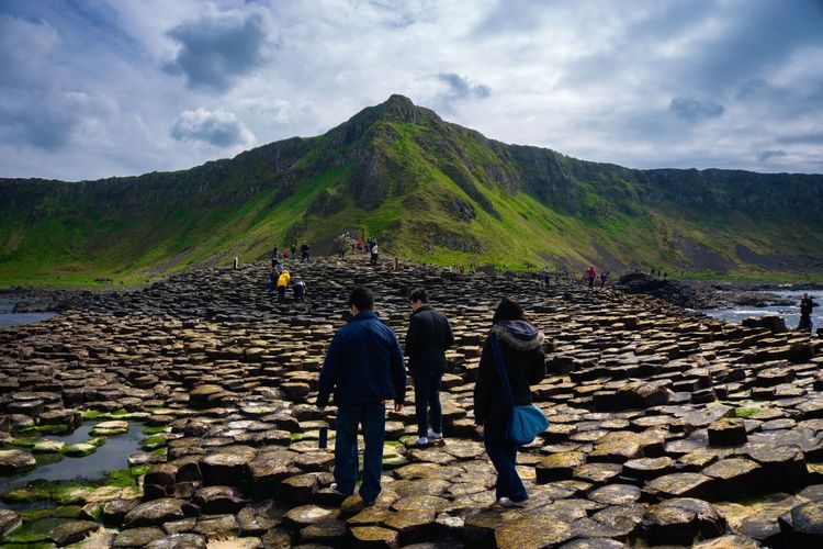 Landscape People Mountain Rural Scene Outdoors Nature Day Green Northern Ireland Giant's Causeway Hexagonal Rock Gameofthrones Connected By Travel The Great Outdoors - 2018 EyeEm Awards