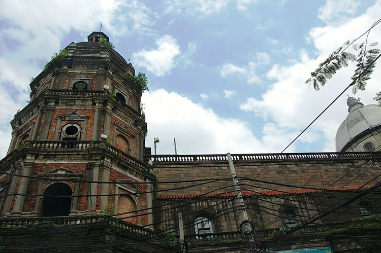 Belfry Architecture Old Buildings Architecture Built Structure Building Exterior Low Angle View Sky Religion Place Of Worship Church History Arch Day Manila, Philippines Spanish Cloud Cloud - Sky Outdoors Historic The Past Façade Exterior No People High Section EyeEm Phillipines