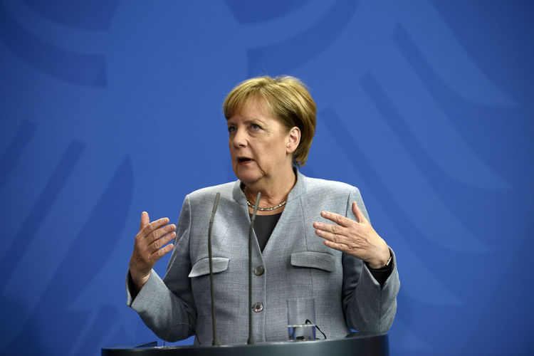 German Chancellor Angela Merkel on 15 September 2017 at the Federal Chancellery One Person Angela Merkel Indoors  Politics And Government Chancellor Leader News Archive History