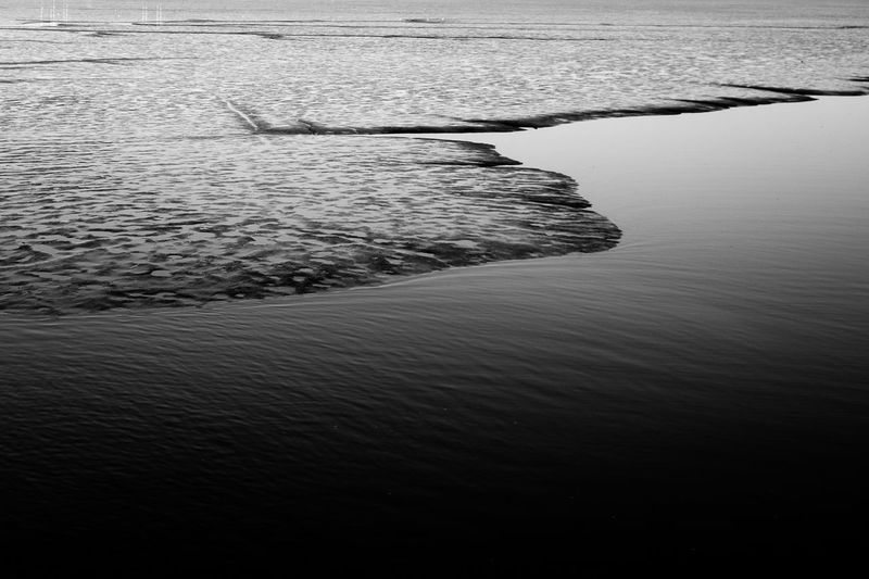 High angle view of rippled water in sea