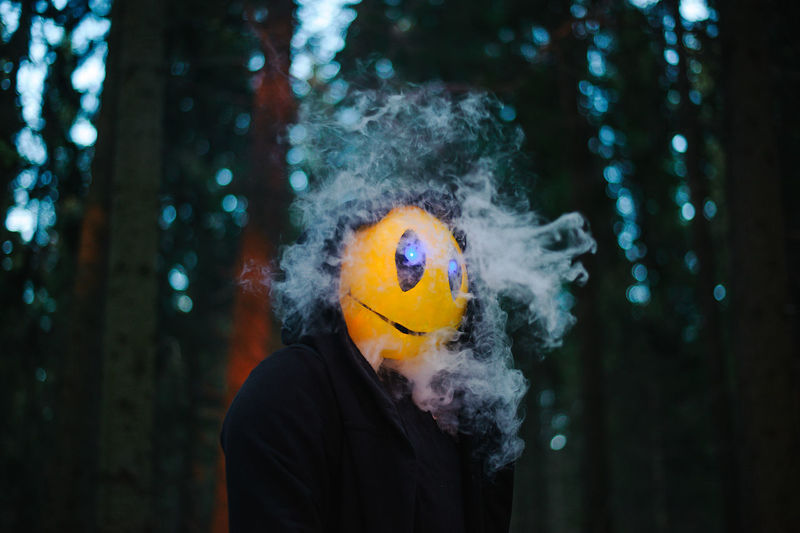 Creepy Scary Night Nightmare Yellow Yellow Face Without Eyes Forest Alone Horror Horror Photography Horror Portrait Fear Fear Of The Dark Awe Dread Phobia Shakes Cold Temperature Smoke Dark Anxiety  One Person Outdoor Lifestyles Alive  Creature Creatures Of The Night Maniac Scared Face