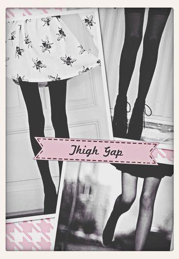 Thinspo Pro Ana Skinny Legs Thigh Gap
