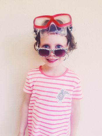 On to the beach! Childhood Child Vertical Portrait Children Only One Girl Only Eyeglasses  Eye Exam  Summertime Summer Vibes Summer