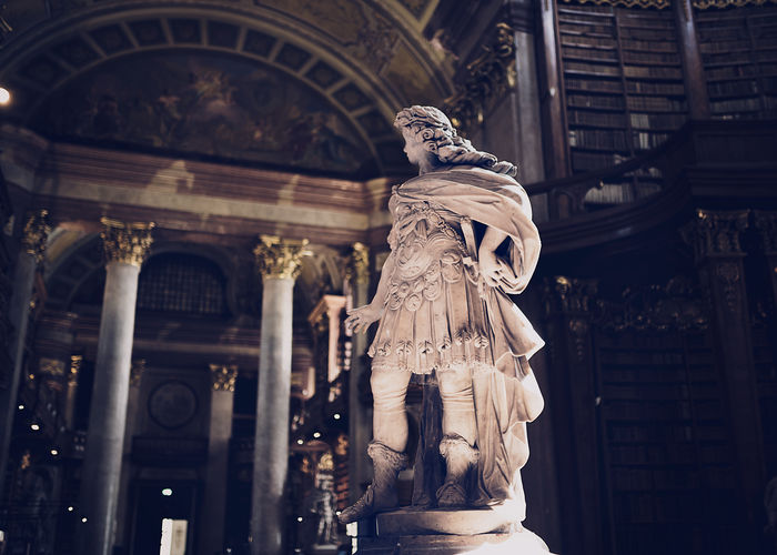 Expectation Vienna Austria Library Statue Sculpture Art And Craft Architecture History Travel Destinations