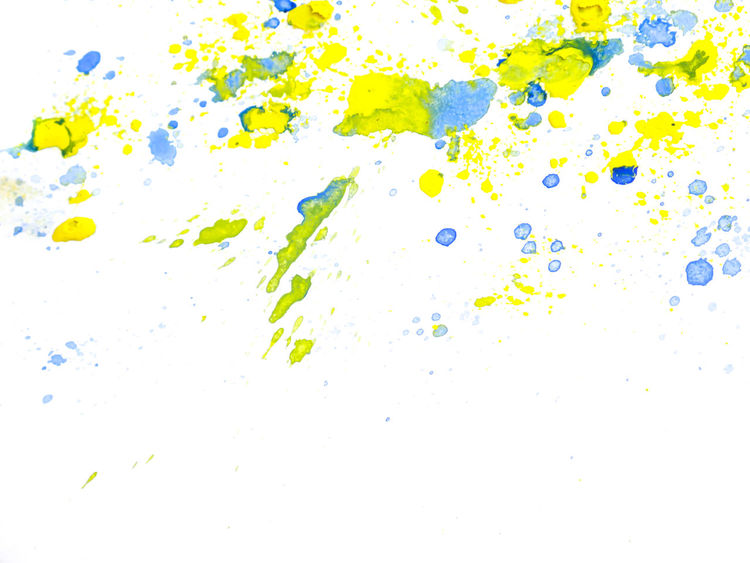 Abstract Backgrounds Close-up Day Drop Full Frame Ink Liquid Multi Colored No People Paint Pattern Studio Shot Textured  Vibrant Color Watercolor Painting White Background Yellow