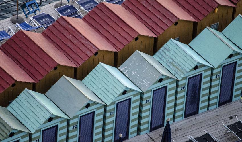 Full frame shot of building roof