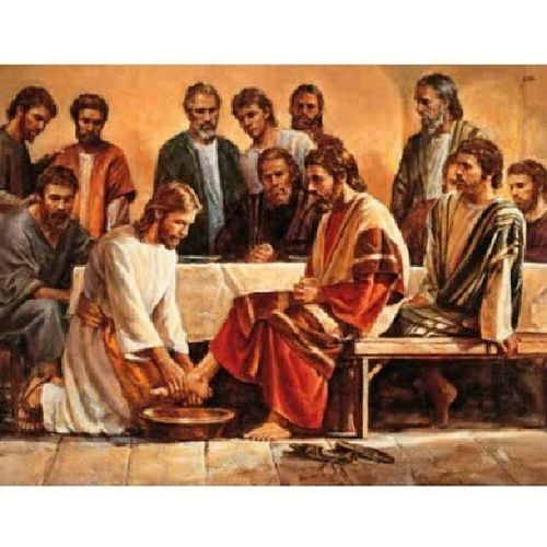 """""""Do you realize what I have done for you? You call me 'teacher' and 'master' and rightly so, for indeed I am. If I therefore the master and teacher have washed you feet, you ought to wash one another's feet. I have given you a model to follow, so that as I have done for you, you should also do."""" Maundythursday Washingoffeet Lastsupper Lent2014 churchLater"""