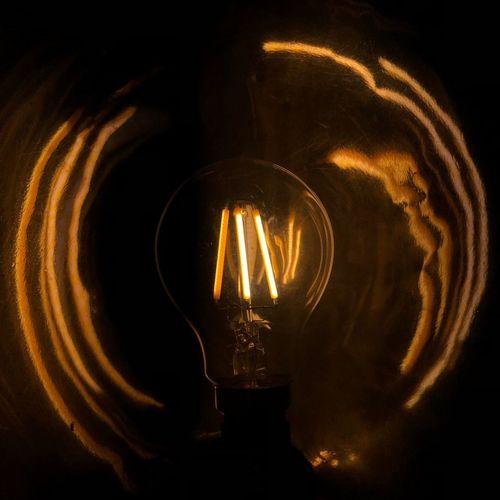 Light Bulb Idea Edison Bulb darkness and light Bulb Light
