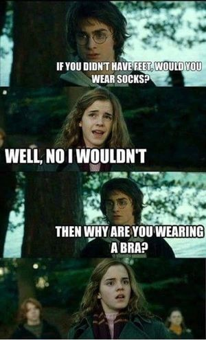 Harry Potter ⚡ Joke Funny We Heart It Bra