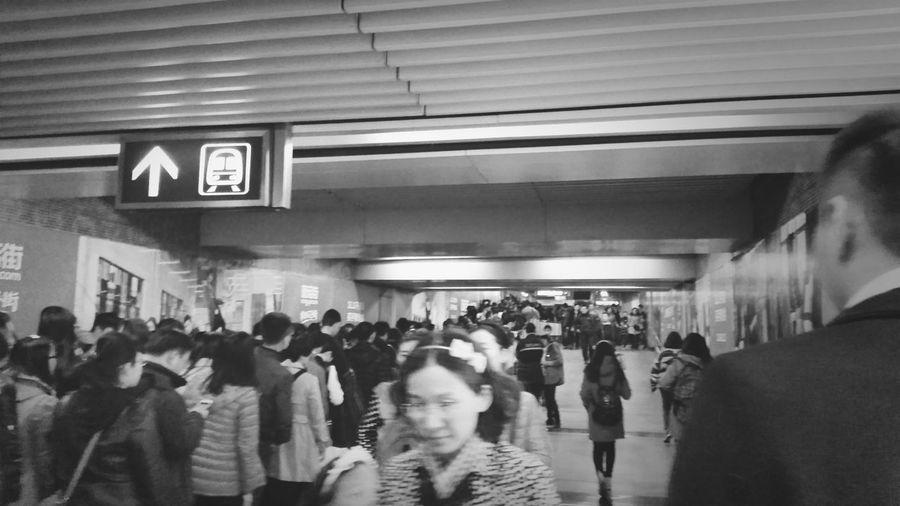 北京地铁 下班高峰