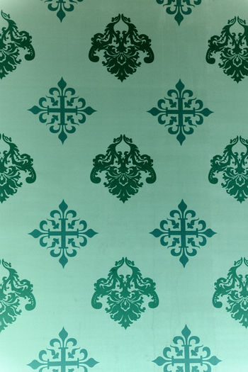 Vintage Wallpaper - Historic Pattern from 18th century Ancient Background Backgrounds Close-up Decoration Fleur De Lys Floral Pattern Full Frame Green Color Green Color Nature No People Nostalgia Old Old-fashioned Pattern Repetition Retro Retro Styled Seamless Pattern Symmetry Tapestry Textured  Vintage Wallpaper