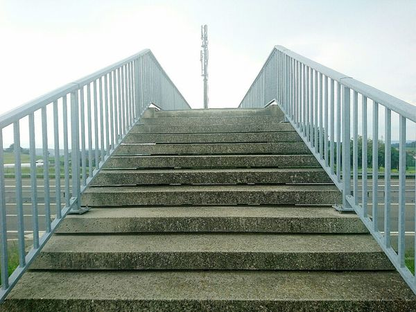 Steps Railing Steps And Staircases Staircase Outdoors Sky Bridge - Man Made Structure Day No People HJB Mobil Sony Xperia Z5 Compact