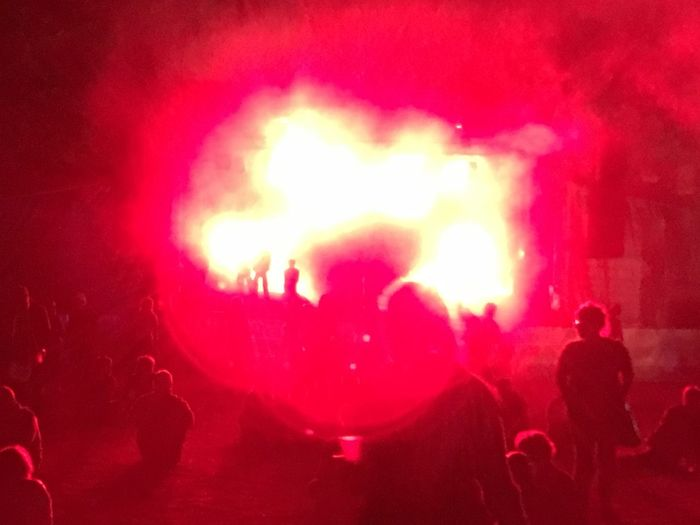 Concert Festval Music Night Red Rock Route Du Rock Techno