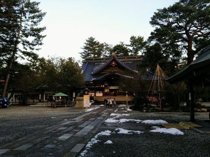 神社 寺社 Kanazawa,japan 尾山神社 Architecture Built Structure Sky Building Exterior Snow Nature Day