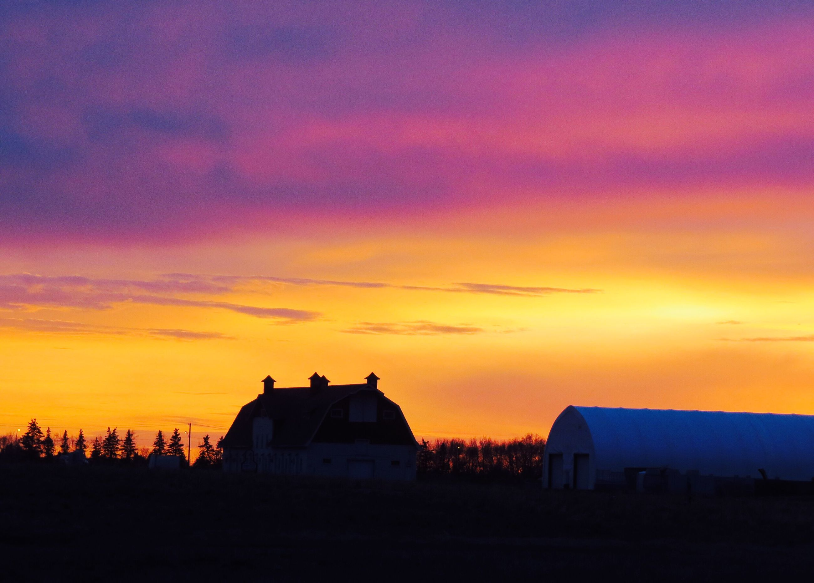 sunset, silhouette, sky, orange color, built structure, nature, building exterior, beauty in nature, tranquil scene, scenics, architecture, outdoors, no people
