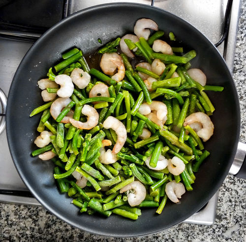 Cooking of green beans and shrimps Cooking Cooking At Home Green Beans Seafood Shrimp Shrimps Appetite Appetizer Close-up Cooking Pan Food Food And Drink Frying Pan Healthy Eating Juicy Kitchen Utensil Main Course No People Prawn Prawns Preparation  Preparing Food Shrimp - Seafood Still Life Vegetable