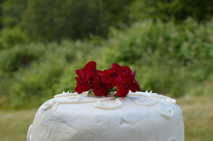 The simplicity. The joy of a simple wedding. Joy Wedding Photography Celebration Cake Flowers Simplicity Outside No People Cake Close-up Wedding Cake