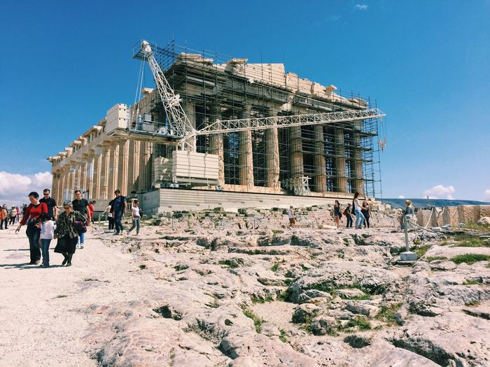 Acropolis Acropolis, Athens Ancient Ancient Civilization Architecture Athens Athens, Greece Blue Built Structure Capital Cities  Day Famous Place Greece History Leisure Activity Lifestyles Outdoors Sky Sunlight Sunny The Past Tourism Tourist Travel Destinations Vacations