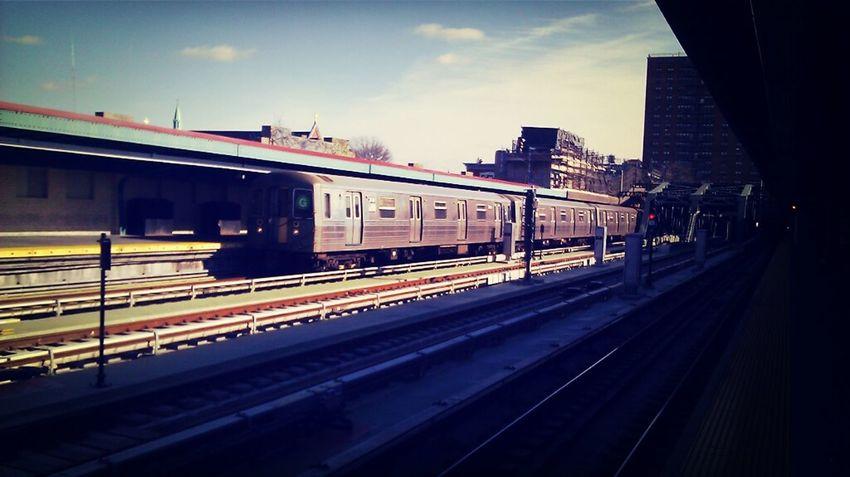 NYC Subway Train Gowanus Brooklyn Park Slope Incoming