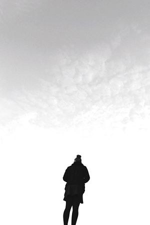 One Person Real People Rear View Sky Silhouette Day Men Cloud - Sky Outdoors Nature One Man Only People Adult Welcome To Black