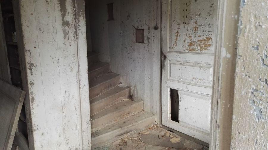 EyeEmNewHere Stairs Abandoned Architecture Built Structure Day Door Doorway Indoors  No People Open