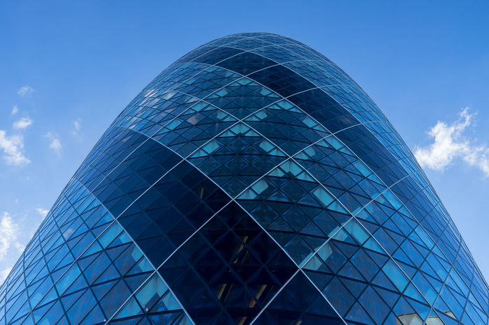 Architecture Architecture Blue Building Exterior Colors and patterns Geometric Shape Gherkin Gherkin Building Gherkin Tower International Landmark Landmark London LONDON❤ Modern Office Building Outdoors Pattern Pieces Sonyalpha TakeoverContrast Tall - High Tower EyeEm LOST IN London Your Ticket To Europe