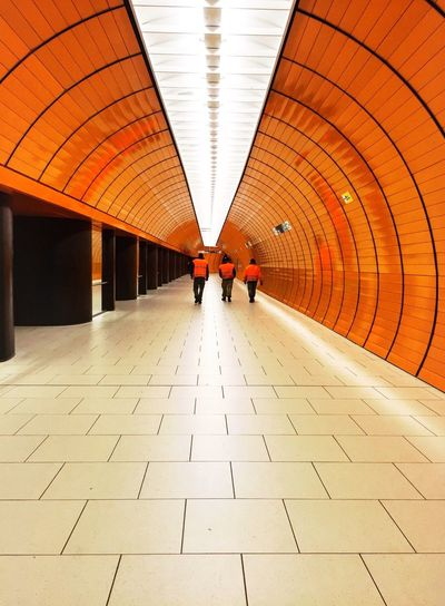 Orange is the new Orange Munich Germany Marienplatz Orange Metro Metro Station Tiles The Architect - 2016 EyeEm Awards The Street Photographer - 2016 EyeEm Awards The Photojournalist - 2016 EyeEm Awards Original Experiences Feel The Journey Fine Art Photography Color Palette