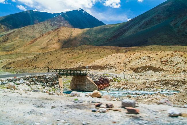 Landscap on the way to Pangong Lake Cloud India Jammu And Kashmir Ladakh Landscape Leh Mountain Mountain Range Nature Sky Travel