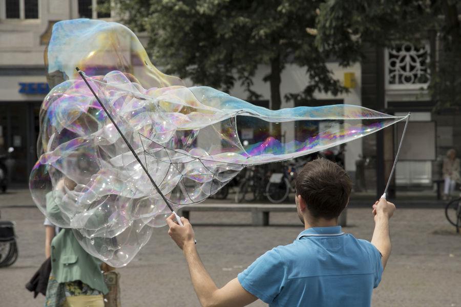 Bubble Bubble Wand Bubbles Bubbles In The Sky Bubbles ♥ Bubbles... Day One Person Outdoors