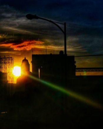 Sunset Sky Sunset Silhouette Cloud - Sky Illuminated Street Light No People Nature Beauty In Nature Outdoors