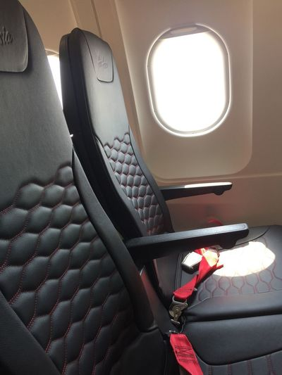 AirAsia newest seat. Feel more space with it. Airasia Airlines Airport Aircraft Transportation Vehicle Interior Mode Of Transportation Travel Vehicle Seat Window Seat Airplane