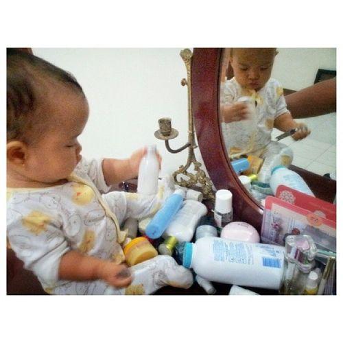 Belajar dandan :) Baby Beautylearning