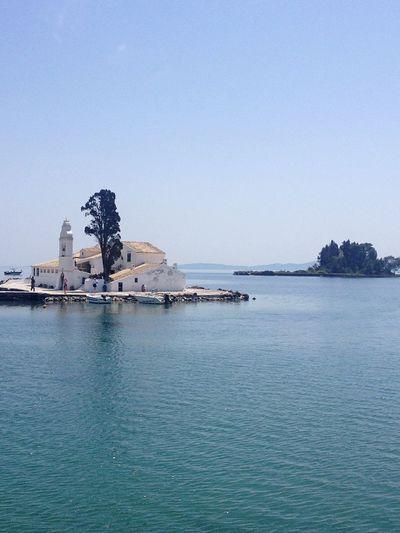 Corfu Greece Mouse Island Sea Traveling Sightseeing Church Travel Sight Tourist Attraction  Island
