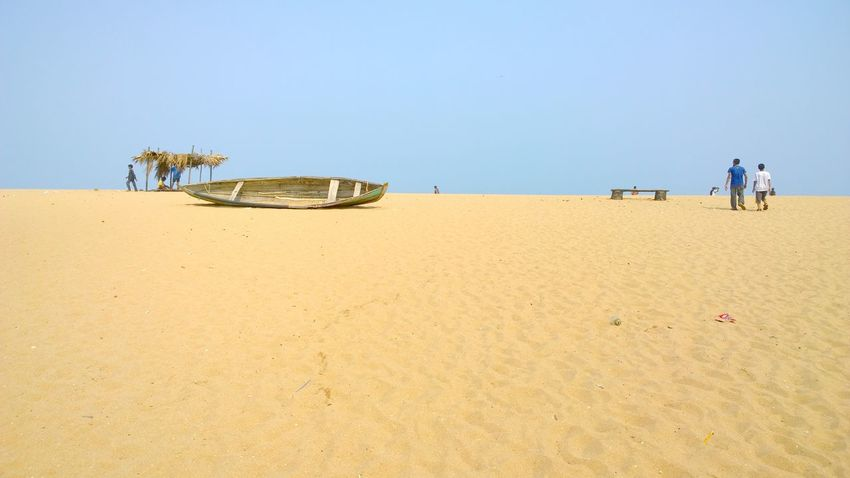 Sand Beach Clear Sky Vacations Landscape People Outdoors Nature Beauty In Nature Sky Day South India India Sommergefühle