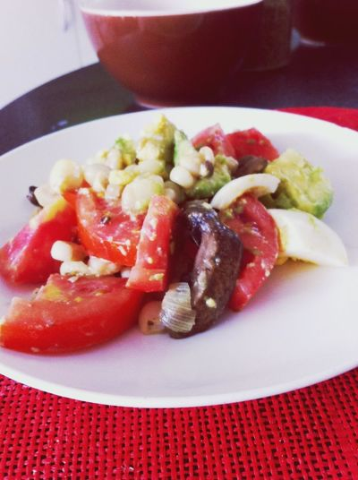 Being Healthy Fitness Salad Mushrooms