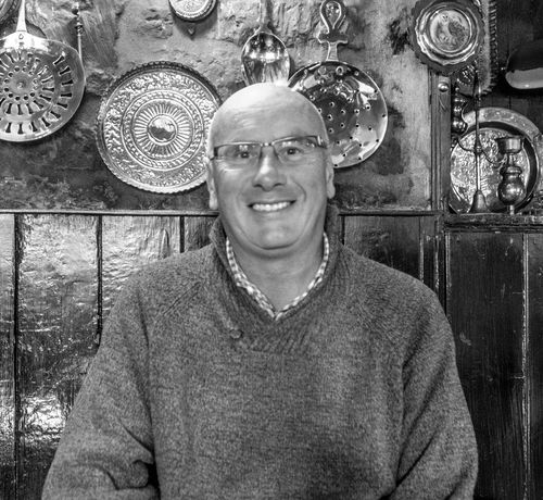 Ray, The Olde Sun, Nether Heyford, Northamptonshire Portrait Ray Fujfilmxt10 Black And White Village Green