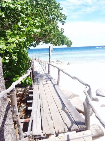 Hello sea Koh Nang Yuan Suratthani Sea Bridge Beach Sun Thailand Natural