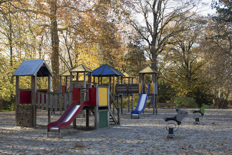 Day Outdoors Park No People Park - Man Made Space Kids Playground Sand Autumn Empty Free Built Structure Absence